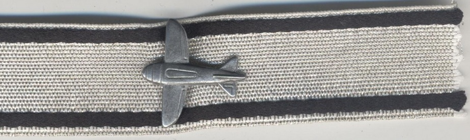 Low flying aircraft destruction badge in silver