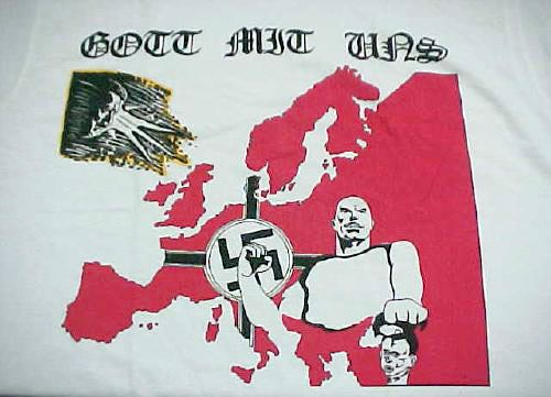 Tshirt of cotton, by Fruit of the loom, with logo Gott mit uns