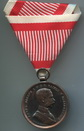Valor Medal - Der Tapferkeit, 33 mm, auburn, with ribbon to clasp