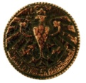 Badge 2nd Tiroler Kaiserjager Regiment Dimensions: 30x30 mm