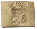 Austro-Hungarian M15 belt buckle for Bosnian troops. Buckle is made of brass, it fits a 5 cm wide belts.