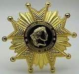Legion of Honor in 1870, 7x7cm, 48 g, laminated gold plating