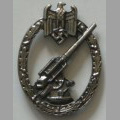 Anti-aircraft badge for Flak and search-light unit with clips