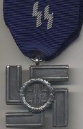 Merit for loyal service in the SS, silver grade