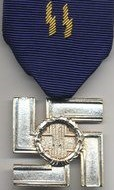 Merit for loyal service in the SS, gold grade