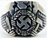 WWII GERMAN HITLER JUGEND SWASTIKA NAZI RING made in silvered alloy, 21 mm