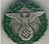 Common Gau Honor badge Berlin 1936, silver badge