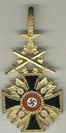 1st class, 1 grade, golden cross with swords and laurel wreath