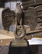 Bronze Nürnberg Eagle in resin, about 23 cm high from the base