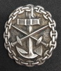 Navy wound silver badge