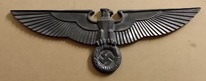 Cold cast resin Reichstag wall eagle.  With wall fitting on the rear. finished like aged  alluminium.  Measures 445mm x 160mm