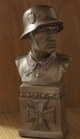 German soldier bust 19 cm tall in bronze