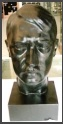 Adolf bust by marble 19 cm high dyed with black varnish, 1,3 kg