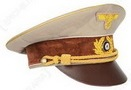 Hitler's cap 1939 realized hand made by italian tailor whith embroidery insigna in alluminium work hand
