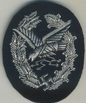 embroidered air gunner and flight engineer badge