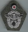 Embroidered police officer cap badge