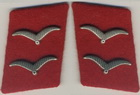 Private First Class Acting Corporal Flak collar tabs