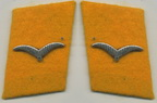 Luftwaffe Flight Private sniper collar tabs on golden yellow backing