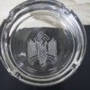 Glass ashtray with W