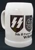 Beer stein, ceramic, 13 cm high, with logos of the 2nd SS Panzer Division Wiking