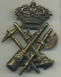 Busby badge of the genius artillery, late 1800