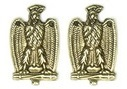 Pair of badges for insignia of the Voluntary Militia for national security 14x22 mm