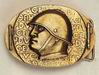 Buckle with Dux, Benito Mussolini head with helmet