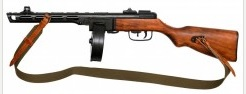 PPSH-41, 1: 1 scale, wood and metal, length 85 cm, weight 3,850g, with sling.<br> 