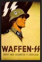 Waffen SS, A3 format laminated photo pspier