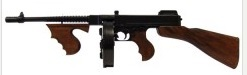 Thompson submachine gun M1921 AC. Handmade by metal and wood. 86.50 cm long. weight  4,470 g